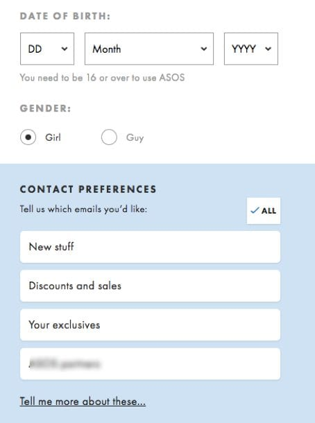 Pre-checked email forms