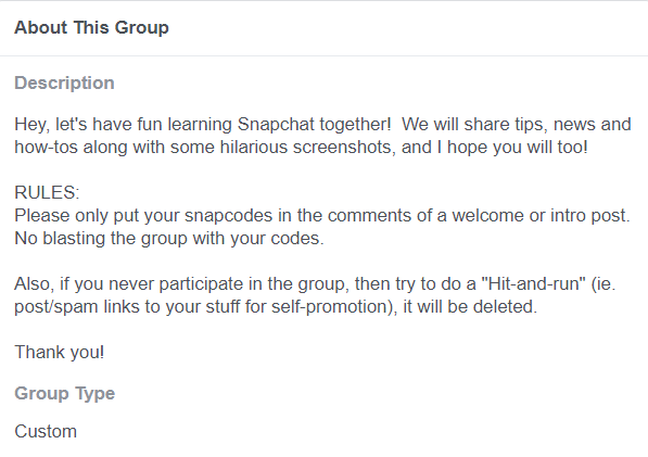 facebook concerning this group