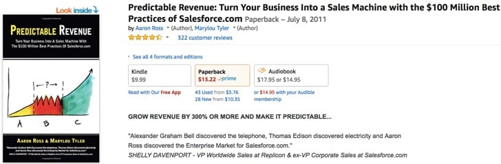 predictable revenue sales book