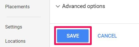 save choices in adwords