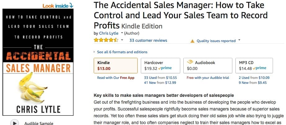 the accidental sales manager book