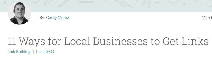 11 ways for local businesses to get links