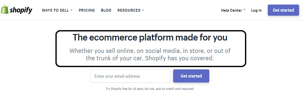 Shopify headline