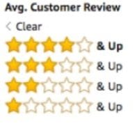 amazon customer review stars