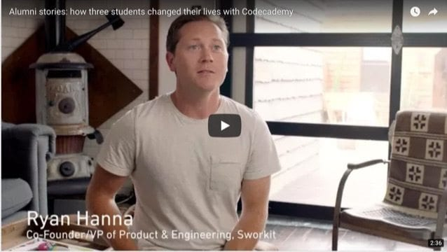 codecademy video testimonial