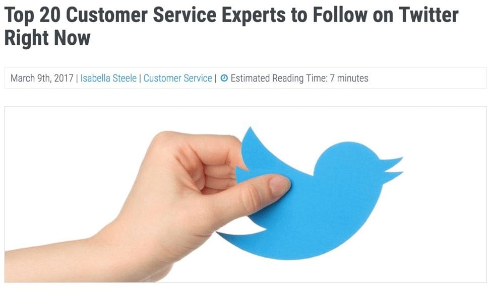 customer support experts on twitter
