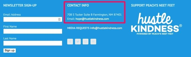 hustle kindness contact info
