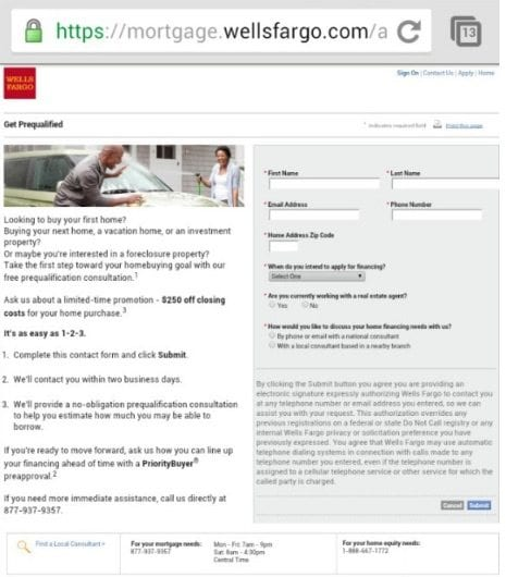 wells fargo mortgage mobile site