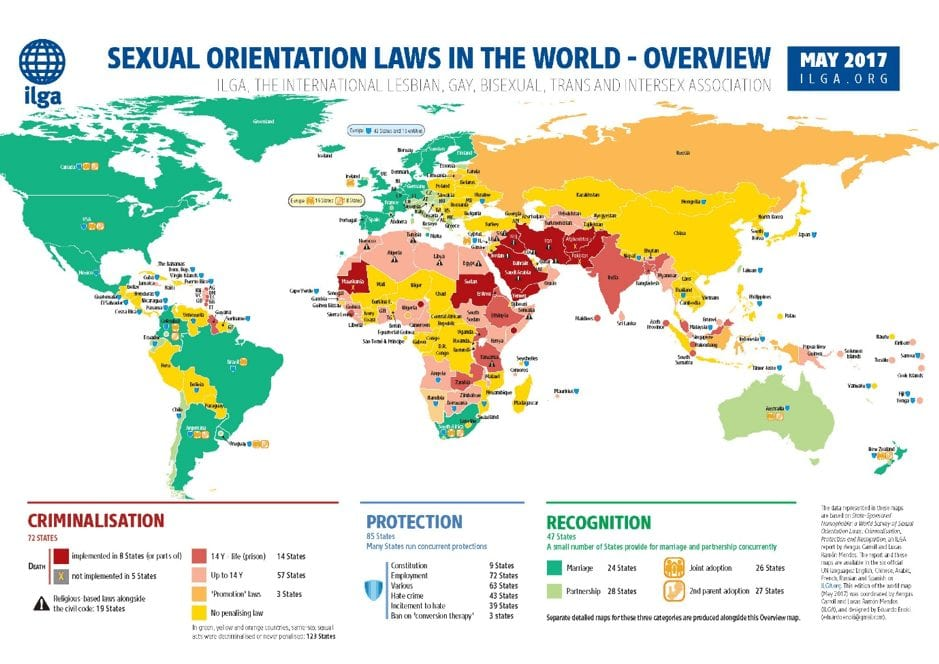 Sexual orientation laws on the planet