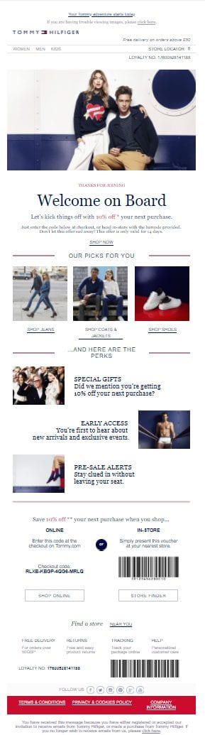 Tommy Hilfiger product offer