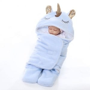 Winter-Hooded-Unicorn-Cartoon-Toddler-Sleeping-Bag-Flannel-Warm-Swaddle-for-Boys-Girls-Baby-Soft-Thicken (1)