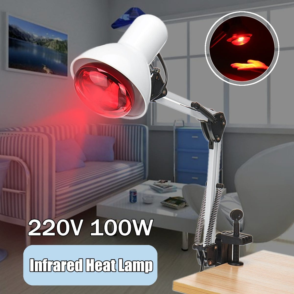 Infrared Therapeutic Pain Relief Heat Lamp Product Mafia