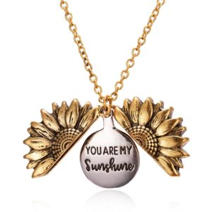 0_2019-New-Elegant-Women-Gold-Necklace-Custom-You-are-my-sunshine-Open-Locket-Sunflower-Pendant-Long
